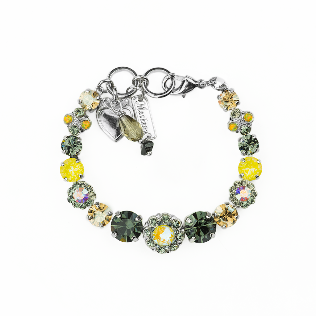 "Round Must-Have Bracelet with Rosettes in ""Painted Lady"" *Preorder*"