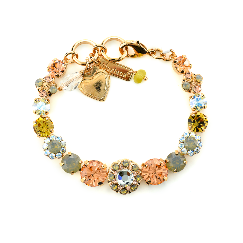 "Round Must-Have Bracelet with Rosettes in ""Peace"" *Preorder*"