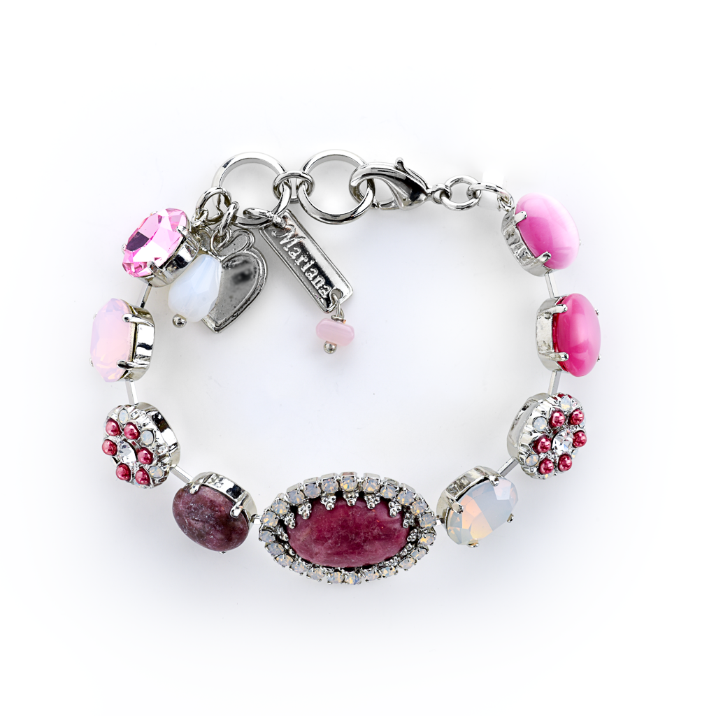 "Oval Halo Bracelet in ""Cherry Blossom"" *Preorder*"