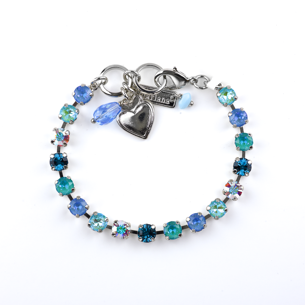 "Petite Everyday Bracelet in ""Tranquil"" - Rhodium"