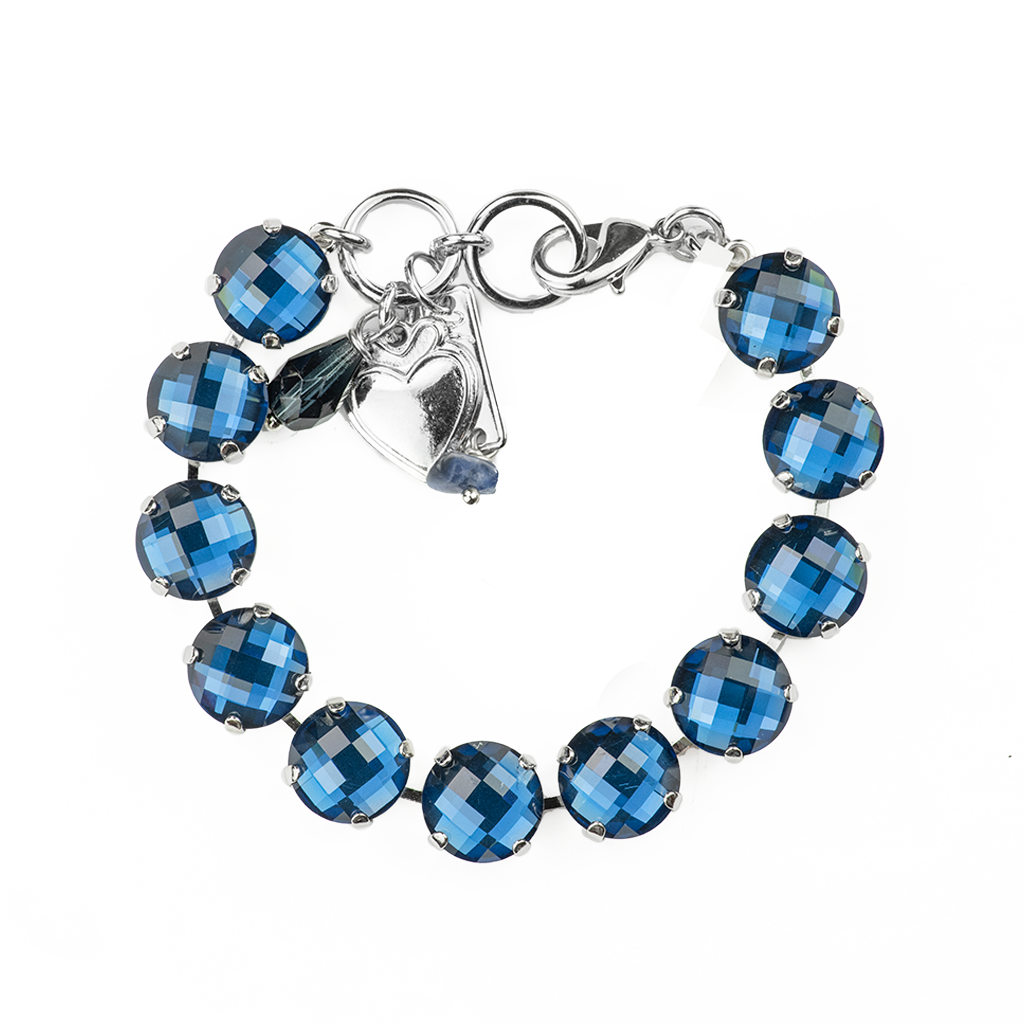 "Lovable Faceted Bracelet in ""Cobalt Blue"" *Preorder*"