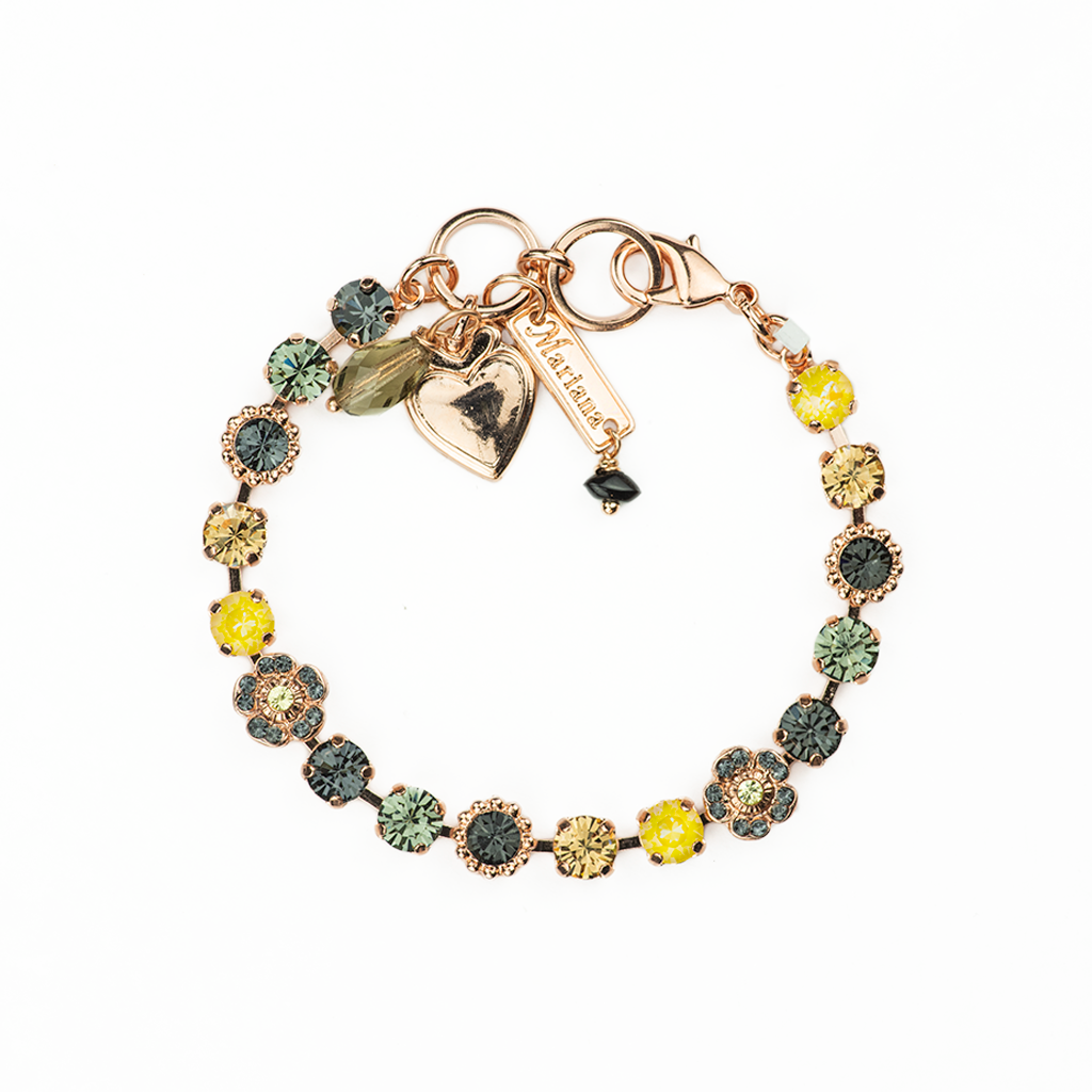"Petite Flower and Cluster Bracelet in ""Painted Lady"" *Preorder*"