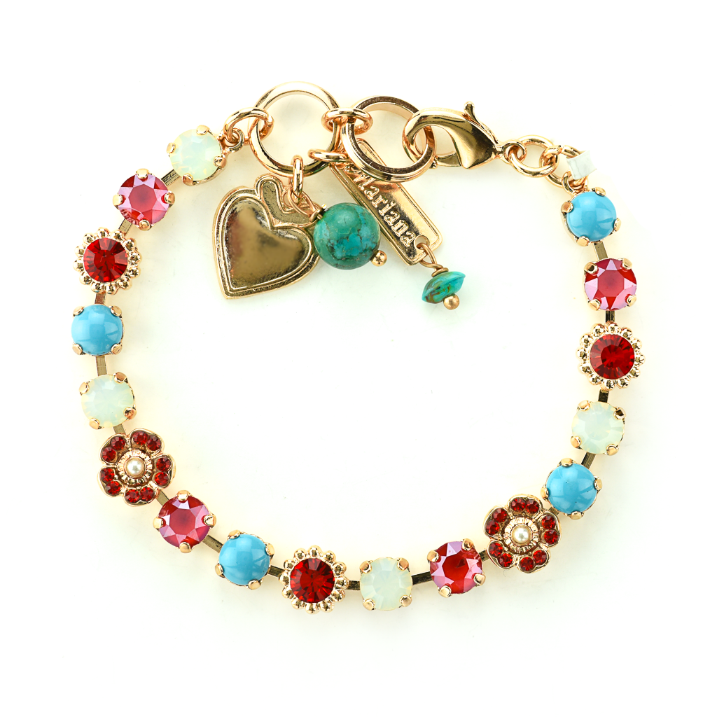 "Petite Flower and Cluster Bracelet in ""Happiness"" *Preorder*"