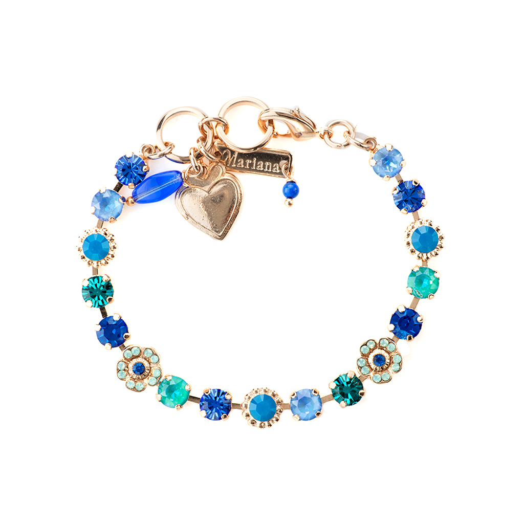 "Petite Flower and Cluster Bracelet in ""Serenity"" *Preorder*"