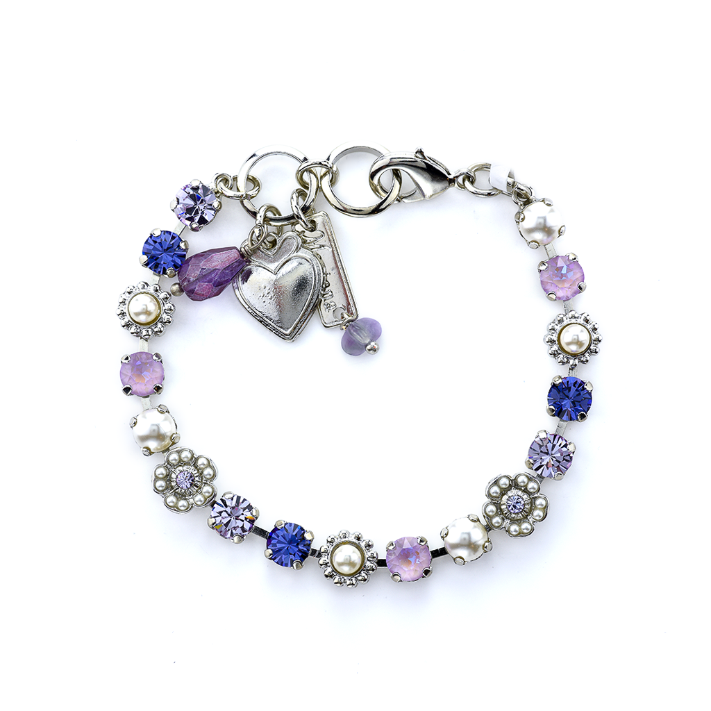 "Petite Flower and Cluster Bracelet in ""Romance"" *Preorder*"