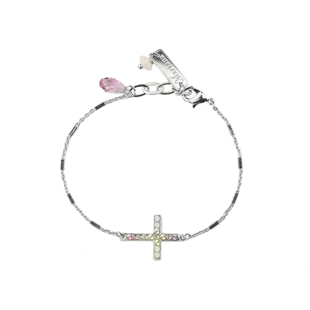 "Petite Cross Chain Bracelet in ""Travelara"" *Preorder*"
