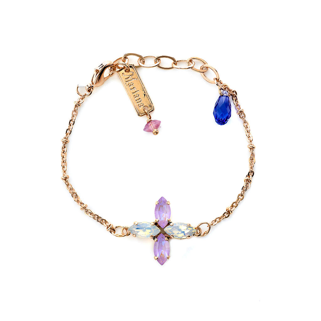 "Marquise Cross Chain Bracelet in ""Romance"" *Preorder*"