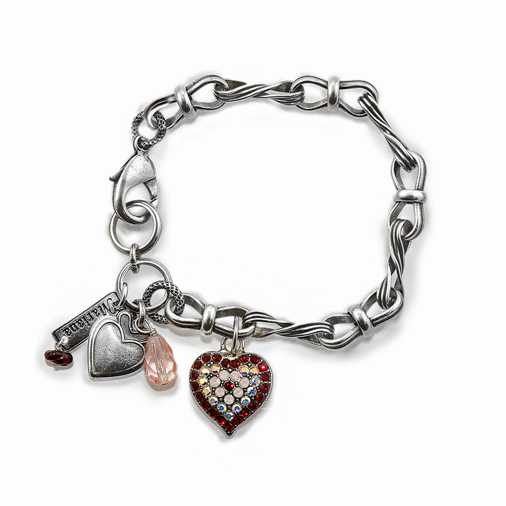 "Chain Link Heart Bracelet in ""True Romance"" *Preorder*"