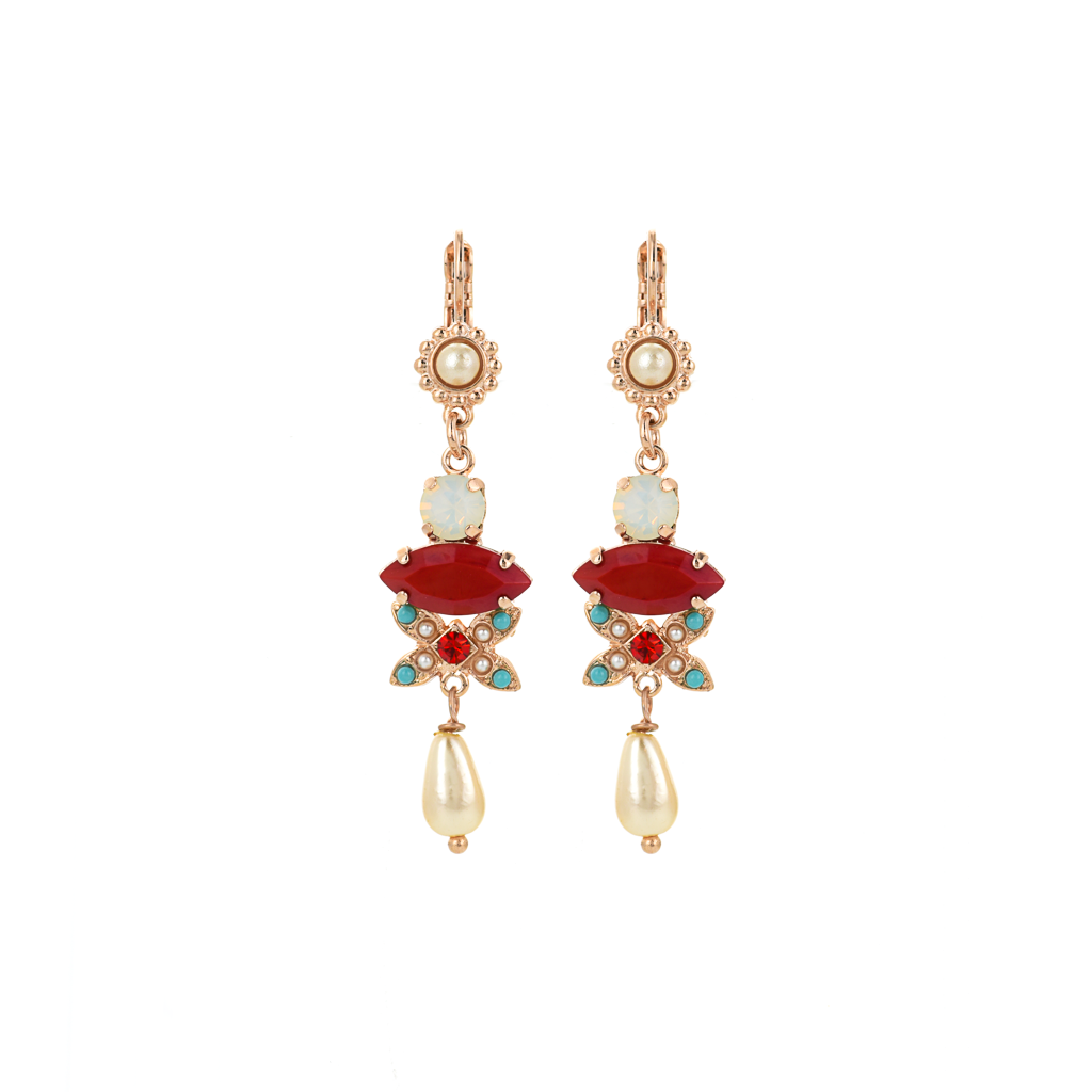 "Marquise Long Dangle Leverback Earrings in ""Happiness"" *Preorder*"