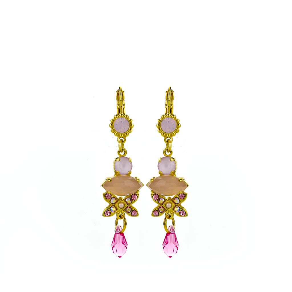 "Marquise Long Dangle Leverback Earrings in ""Love"" *Preorder*"