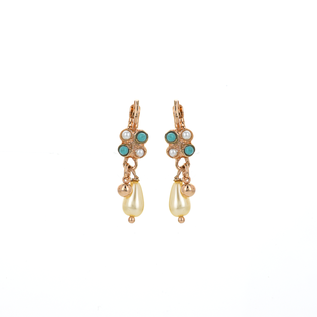 "Square Cluster Leverback Earrings in ""Happiness"" *Preorder*"