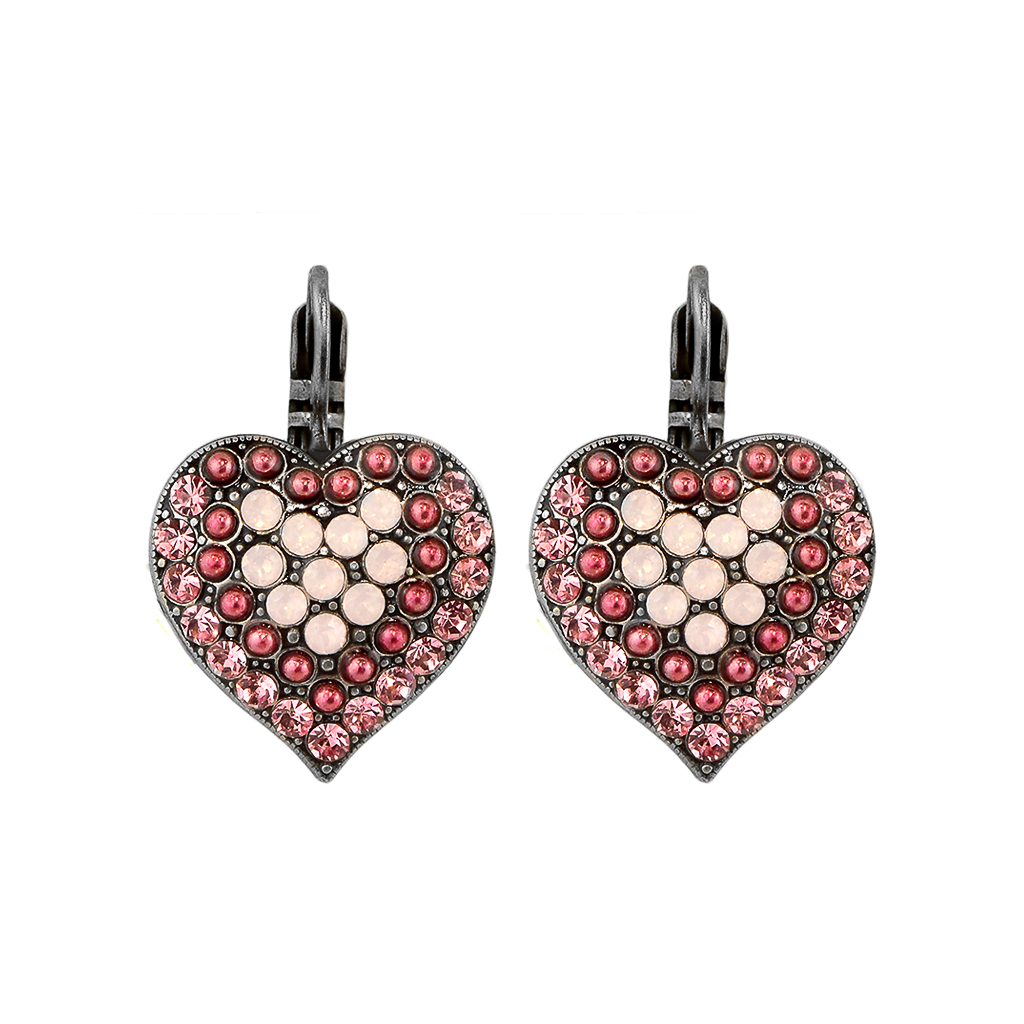 "Heart Leverback Earrings in ""Antigua"" *Preorder*"