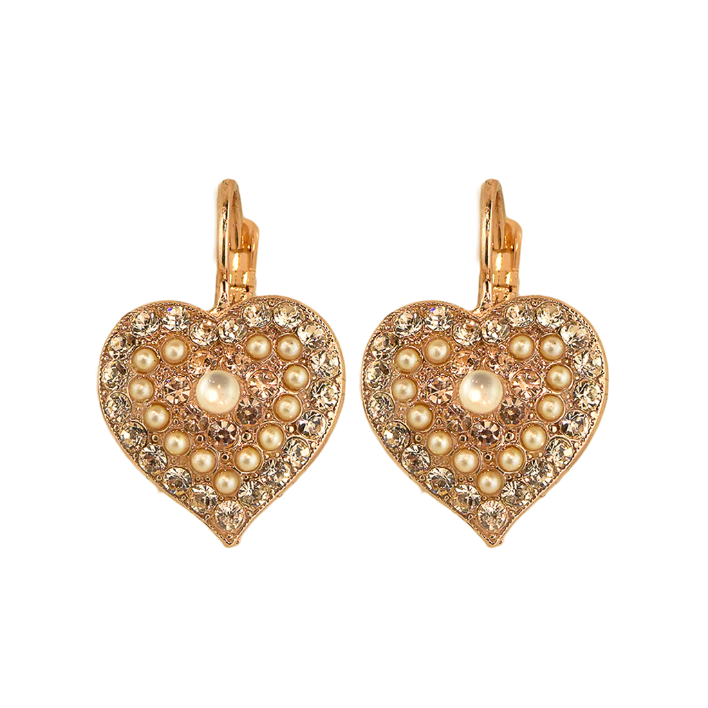 "Heart Leverback Earrings in ""Barbados"" *Preorder*"