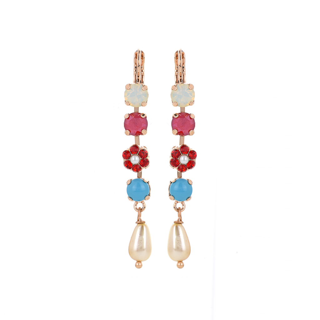"Daisy Dangle Leverback Earrings in ""Happiness"" *Preorder*"
