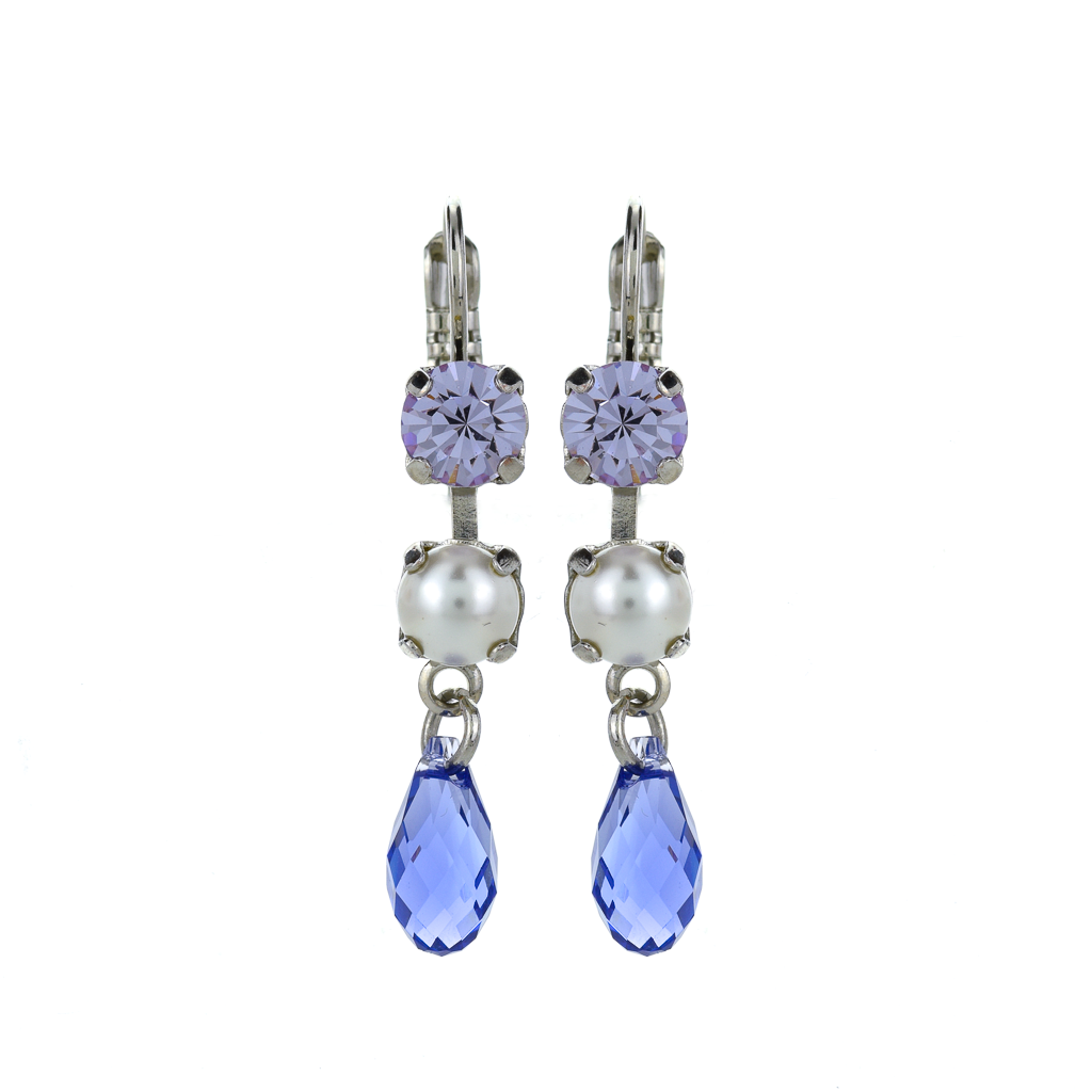 "Two Stone Dangle Leverback Earrings in ""Romance"" *Preorder*"