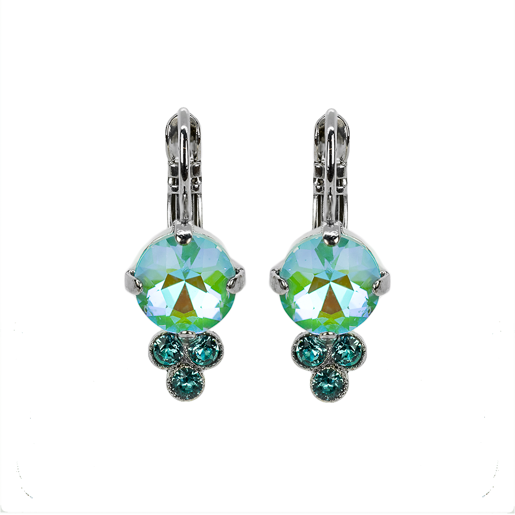 Must-Have Leverback Earrings in Sun-Kissed Aqua - Rhodium