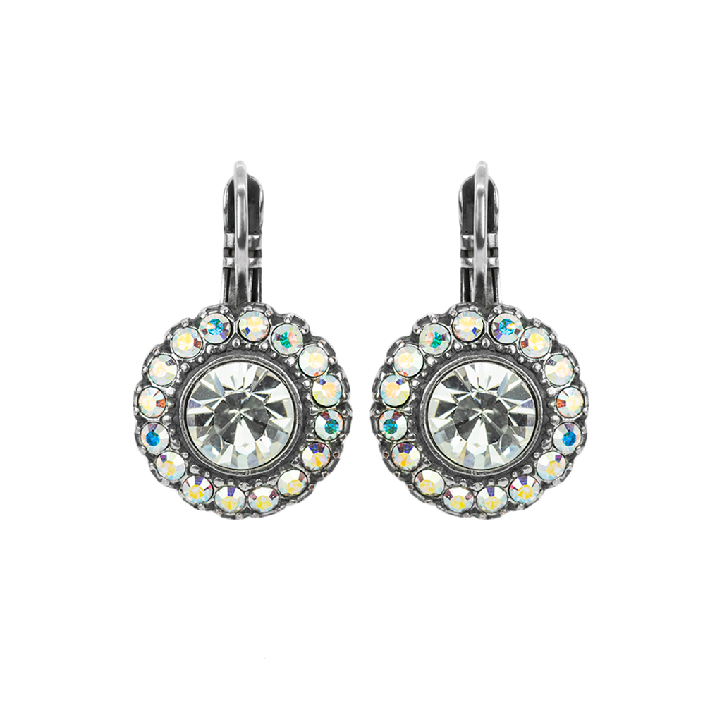 "Cluster Disc Bridal Leverback Earrings in ""On A Clear Day"" *Preorder*"