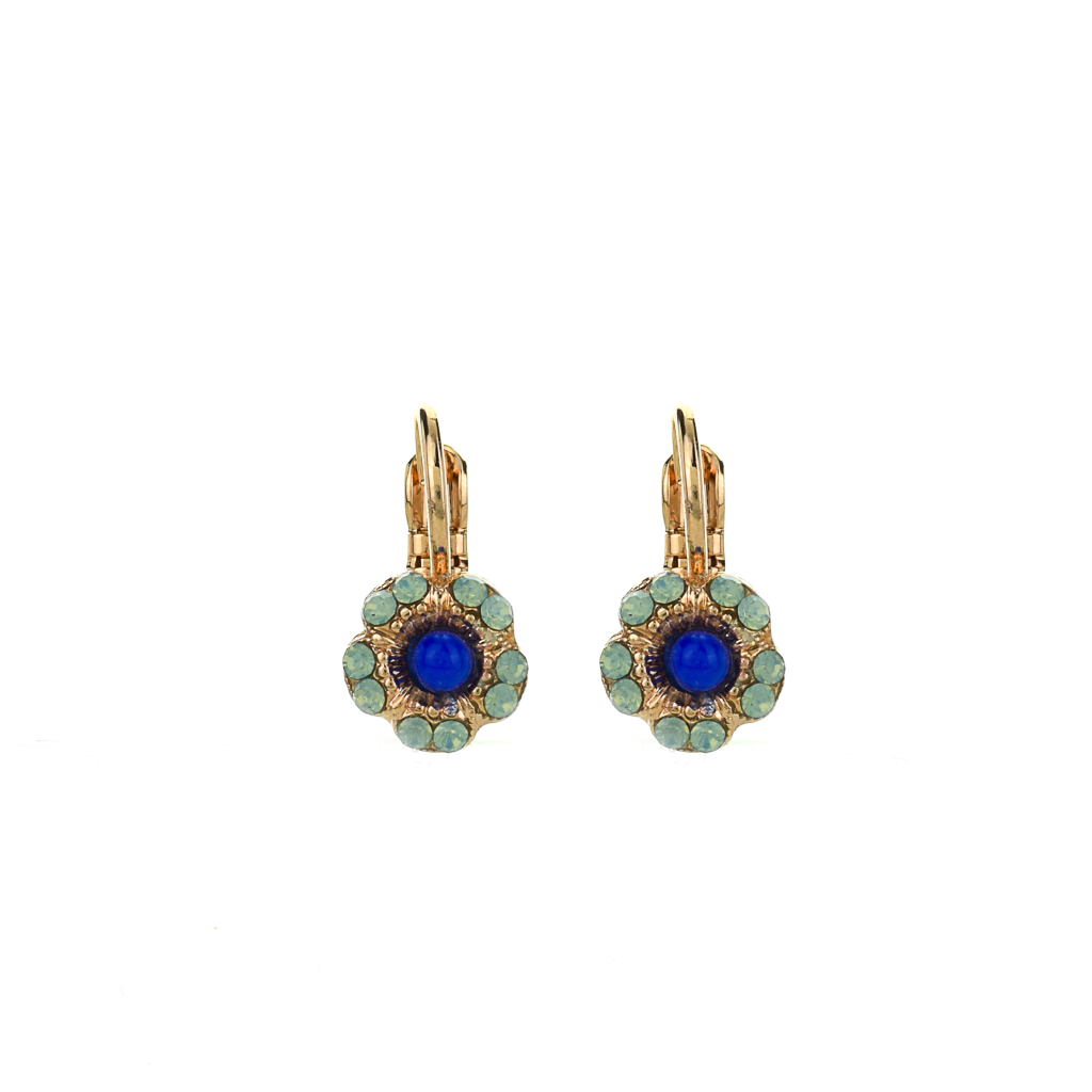 "Petite Cosmos Leverback Earrings in ""Serenity"" *Preorder*"