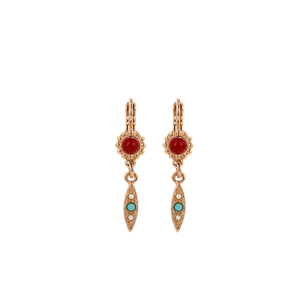"Flower Marquise Dangle Leverback Earrings in ""Happiness"" *Preorder*"