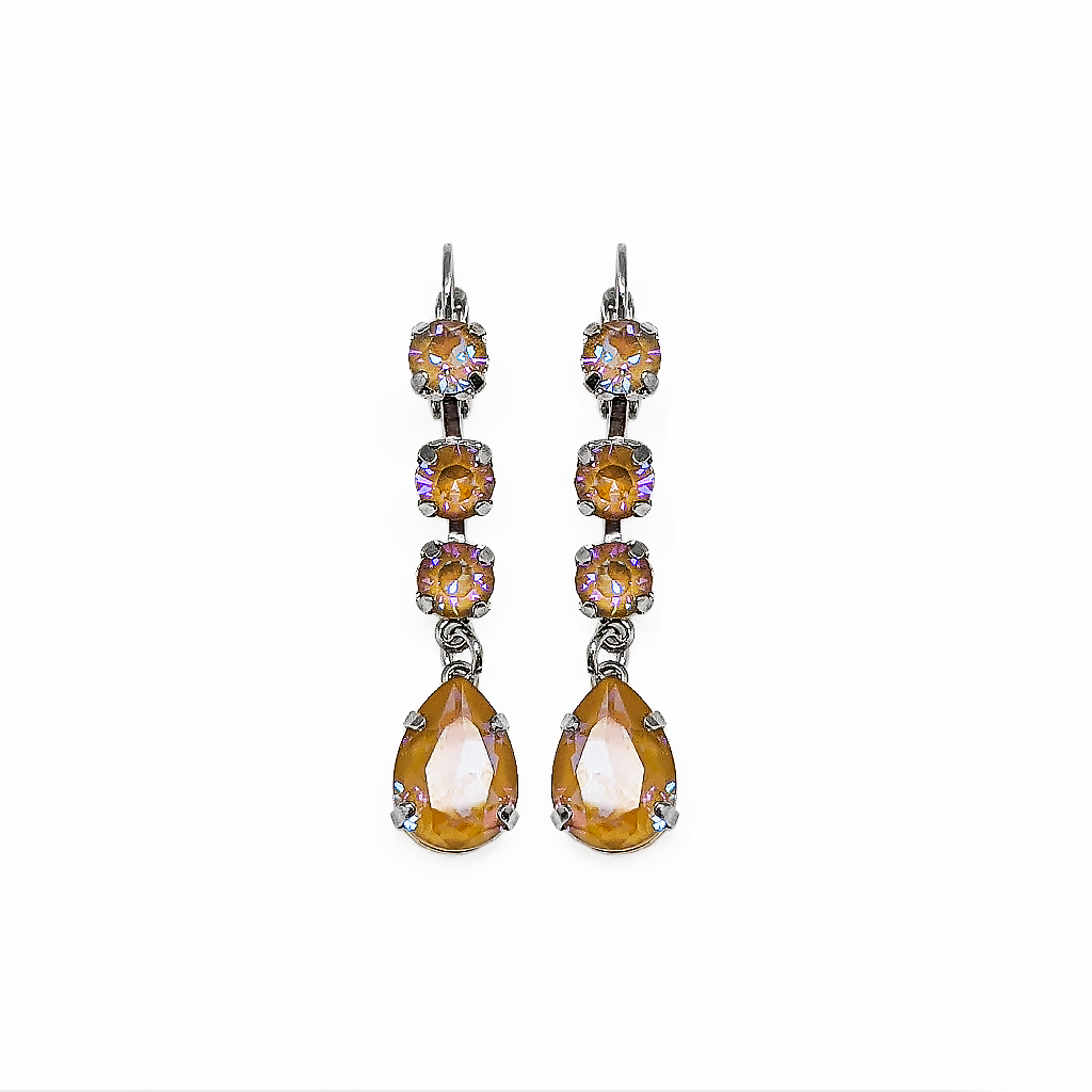 "Fun Finds Round and Pear Leverback Earrings in Sun-Kissed ""Horizon"" *Preorder*"