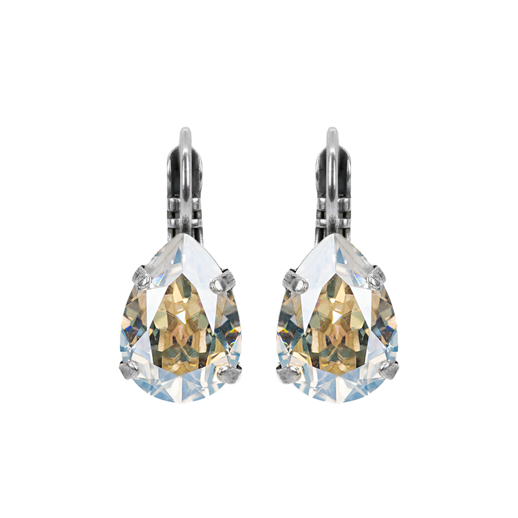 "Pear Leverback Earrings in ""Crystal Moonlight"" *Preorder*"