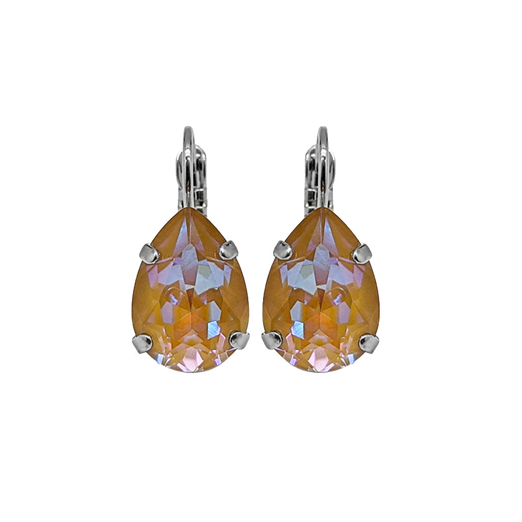"*Preorder* Pear Leverback Earrings in Sun-Kissed ""Horizon"""