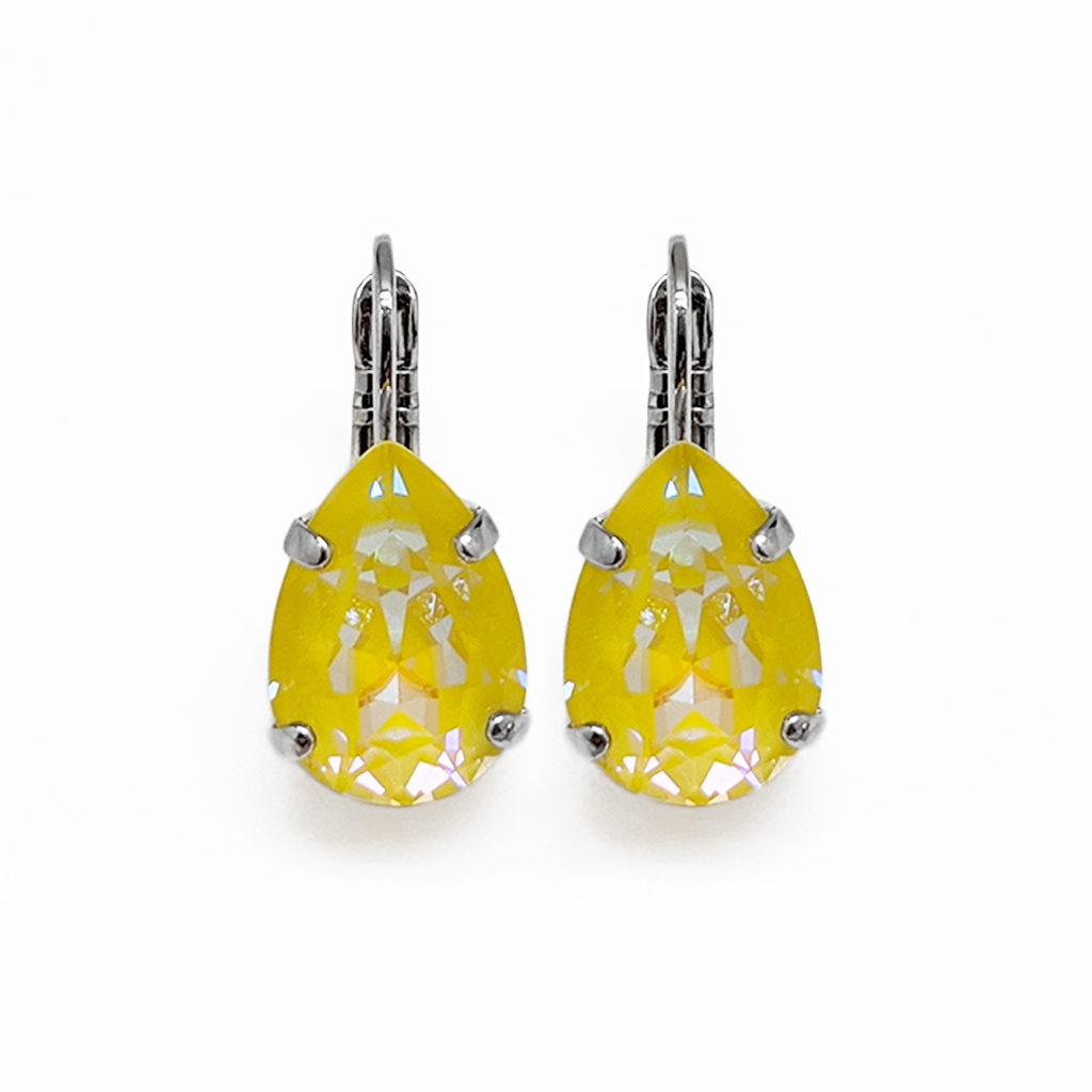 "Pear Leverback Earrings in Sun-Kissed ""Sunshine"" *Preorder*"