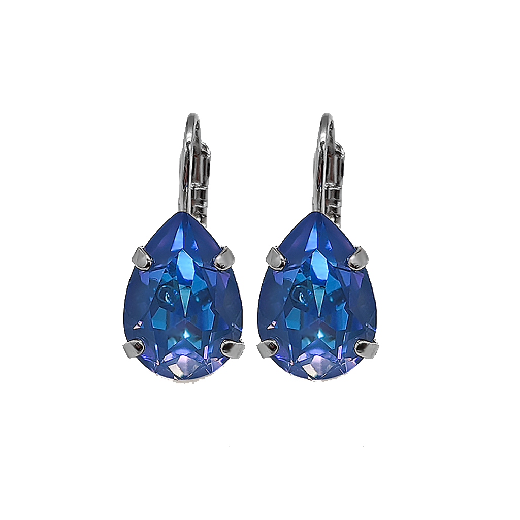 "*Preorder* Pear Leverback Earrings in Sun-Kissed ""Ocean"" (Leverback)"