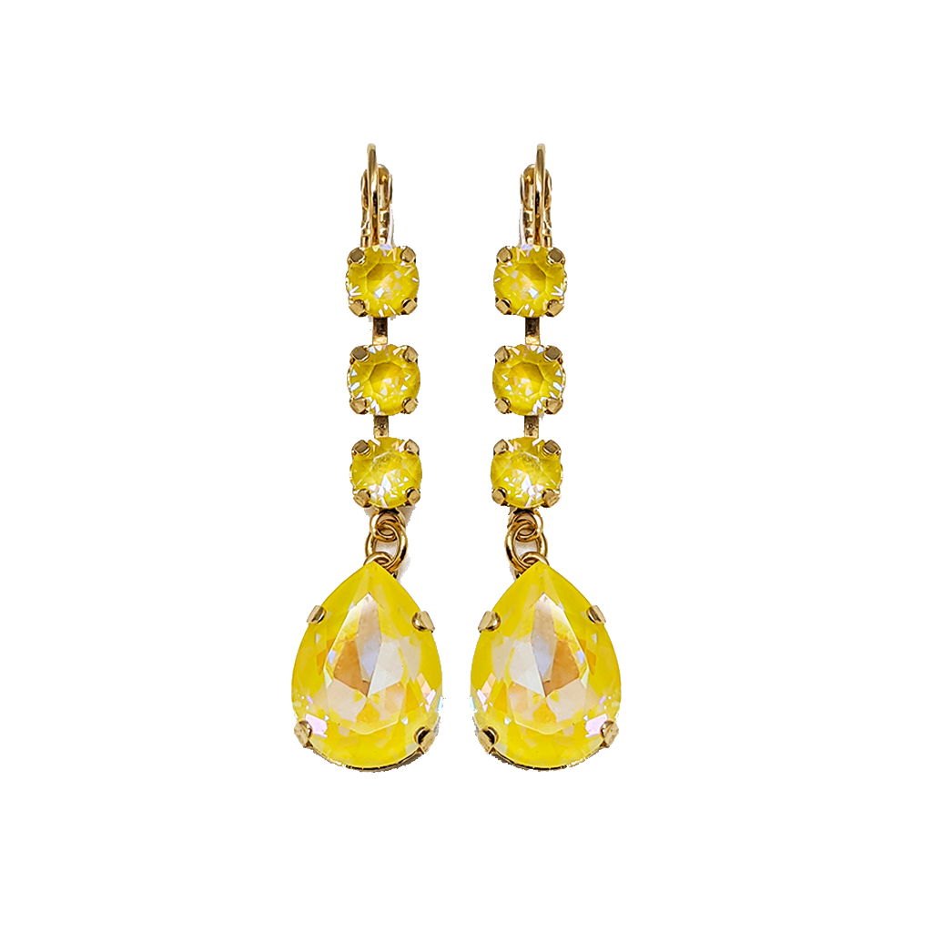 "Fun Finds Round and Pear Leverback Earrings in Sun-Kissed ""Sunshine"" *Preorder*"