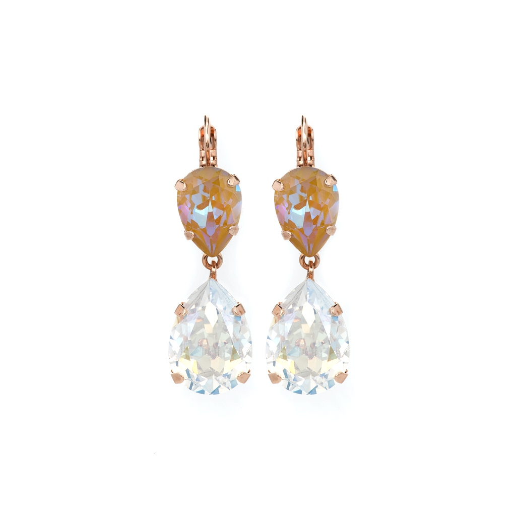 "Double Pear Leverback Earrings in Sun-Kissed ""Peace"" *Preorder*"