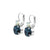 "Lovable Double Stone Leverback Earrings in ""Mood Indigo"" - Rhodium"