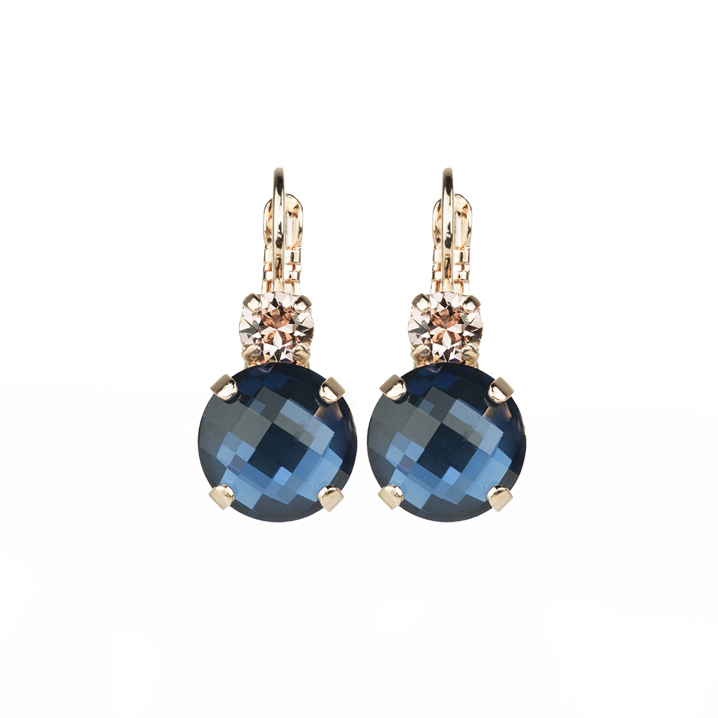 "*Preorder* Lovable Double Stone Leverback Earrings in ""Blue Morpho"""