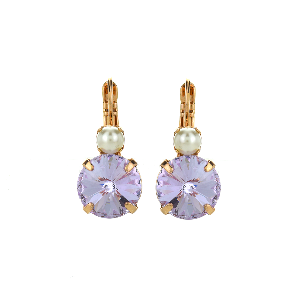 "Lovable Rivoli Double Stone Leverback Earrings in ""Romance"" *Preorder*"