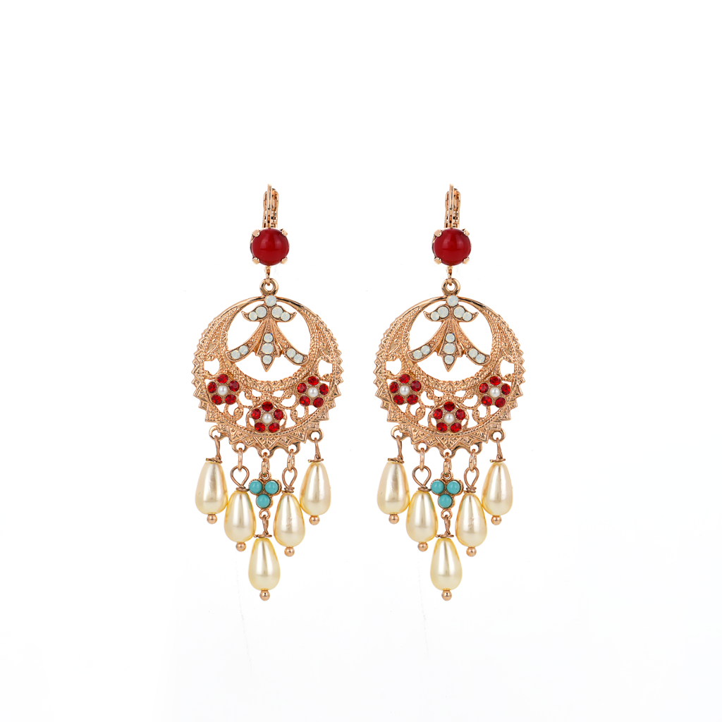 "Boho Chandelier Leverback Earrings in ""Happiness"" *Preorder*"