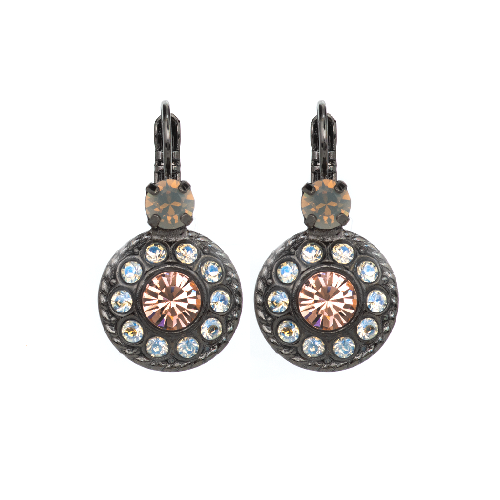 "Double Round Cluster Leverback Earrings in ""Peace"" *Preorder*"