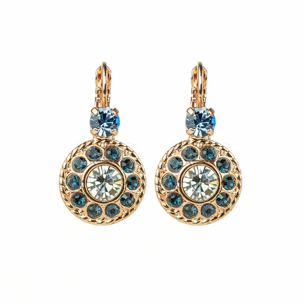 "Double Round Cluster Leverback Earrings in ""Night Sky"" *Preorder*"