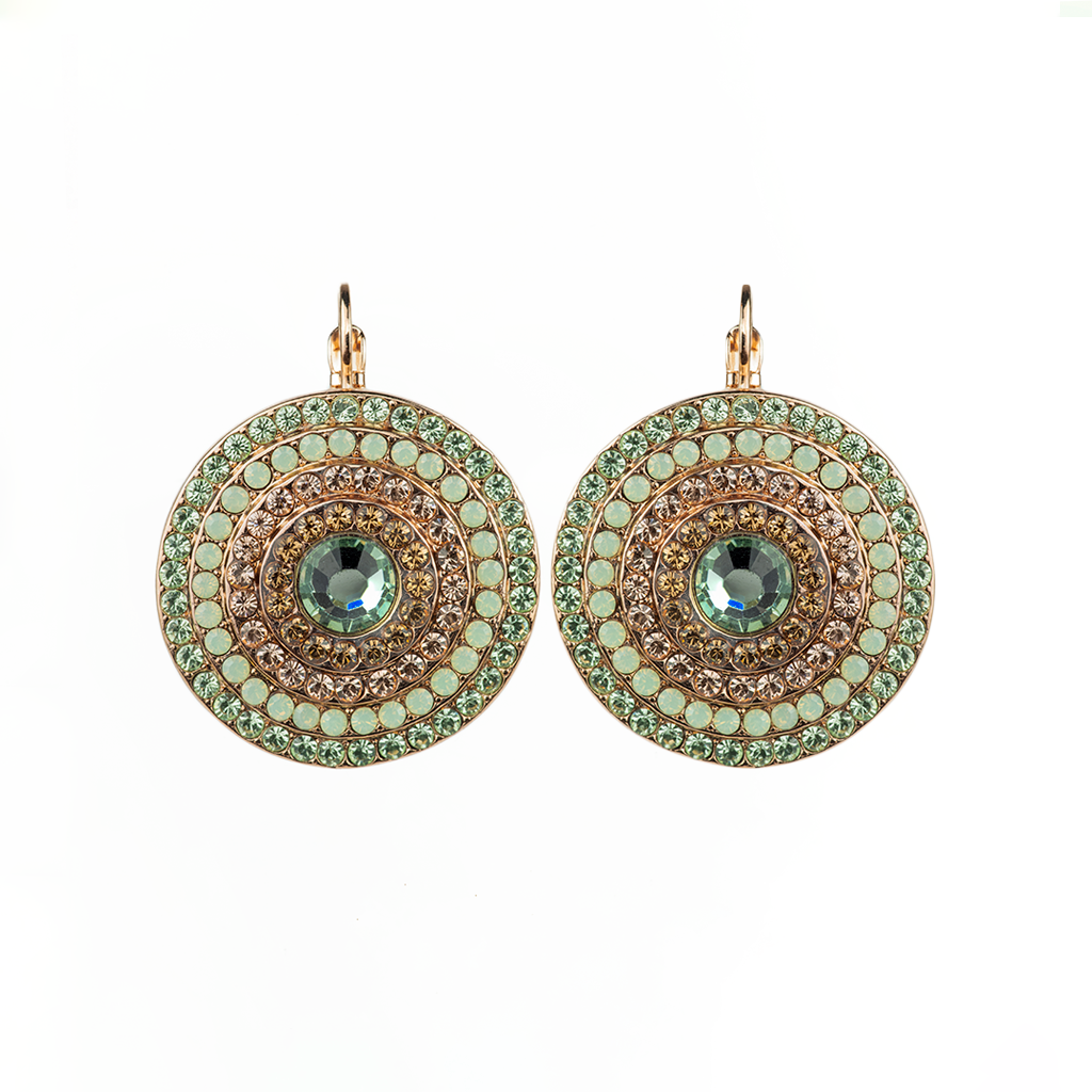 "Extra Luxurious Pave Leverback Earrings in ""Monarch"" *Preorder*"