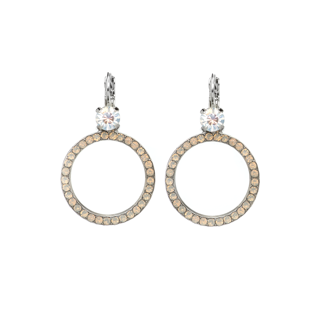 "Circle Leverback Earrings in ""Peace"" *Preorder*"
