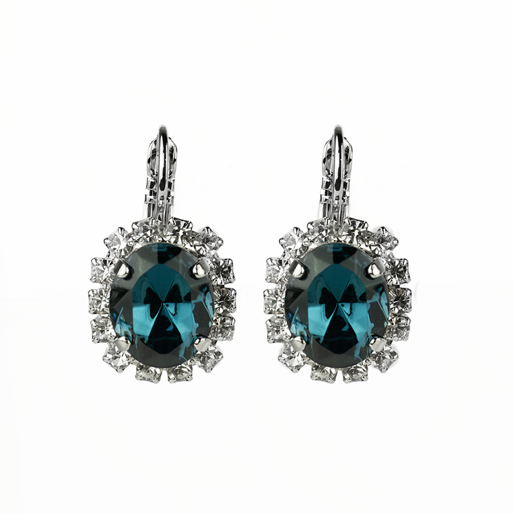 "Oval Cluster Leverback Earrings in ""Night Sky"" *Preorder*"