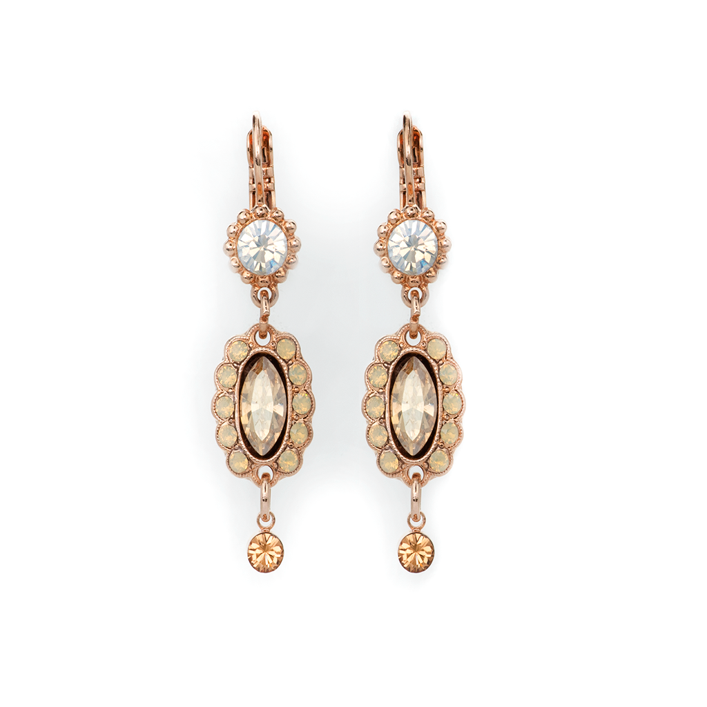 "Marquise Chandelier Leverback Earrings in ""Peace"" *Preorder*"