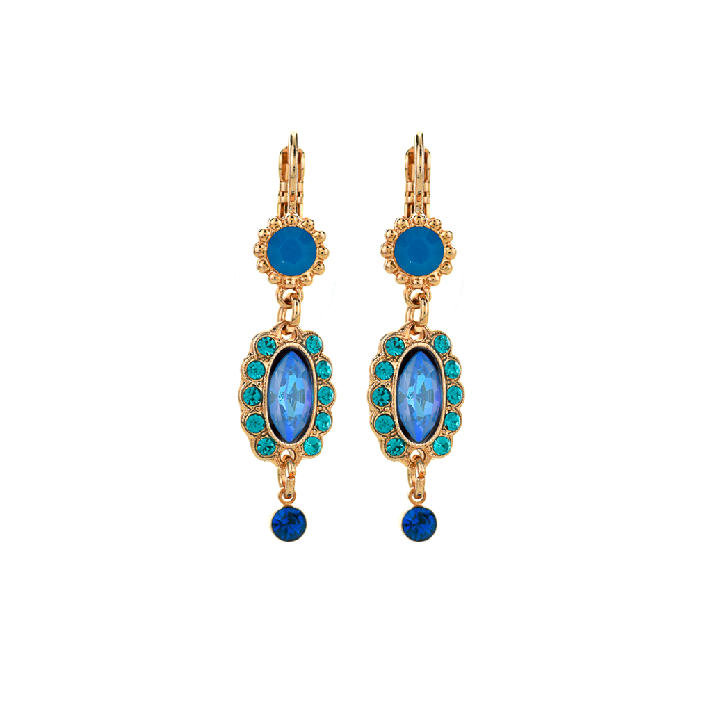 "Marquise Chandelier Leverback Earrings in ""Serenity"" *Preorder*"