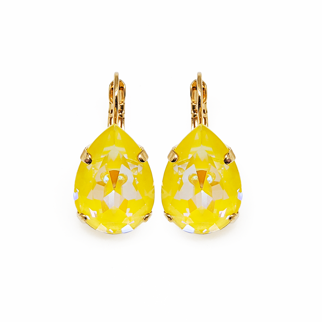 "Large Pear Leverback Earrings in Sun-Kissed ""Sunshine"" *Preorder*"