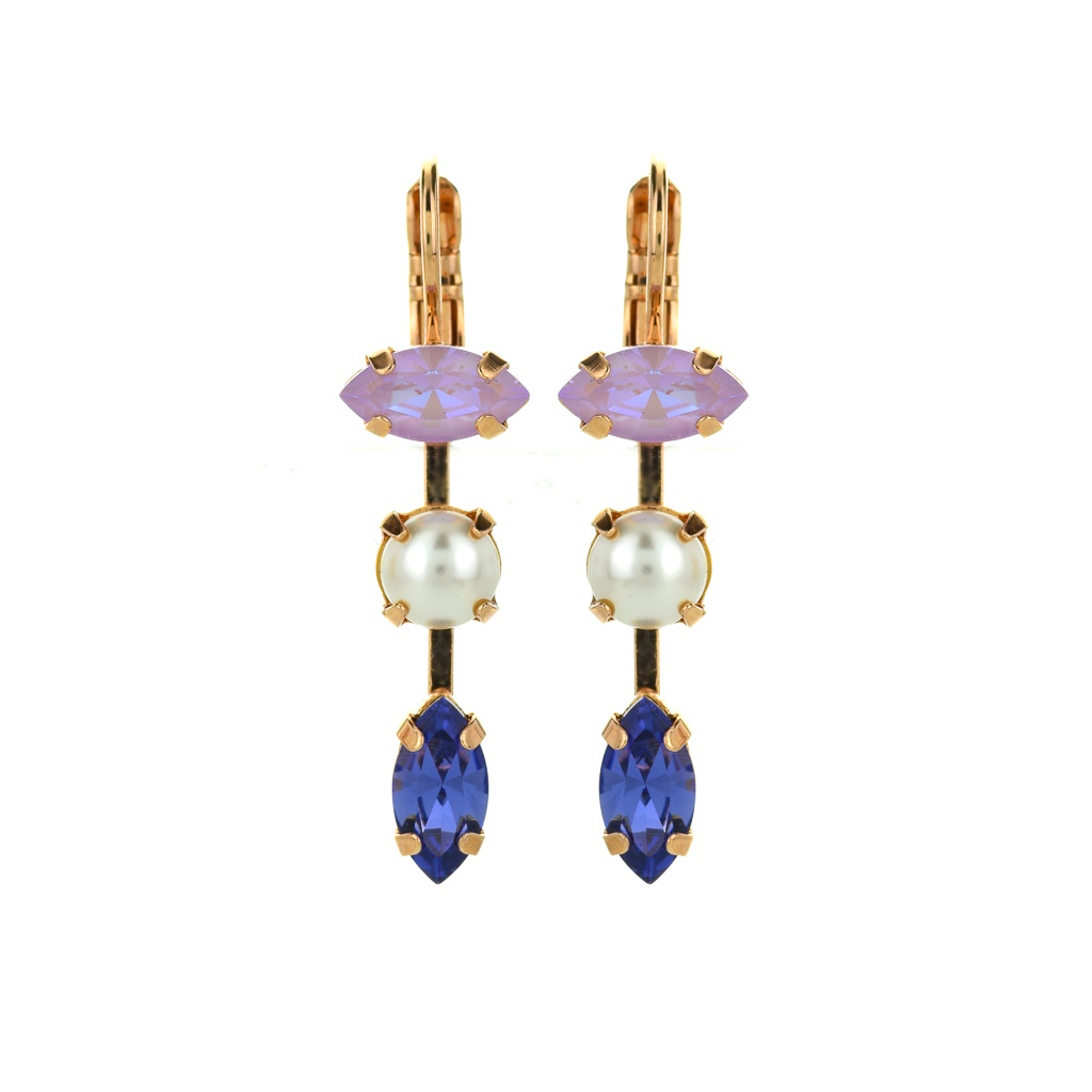 "Double Marquise Dangle Leverback Earrings in ""Romance"" *Preorder*"