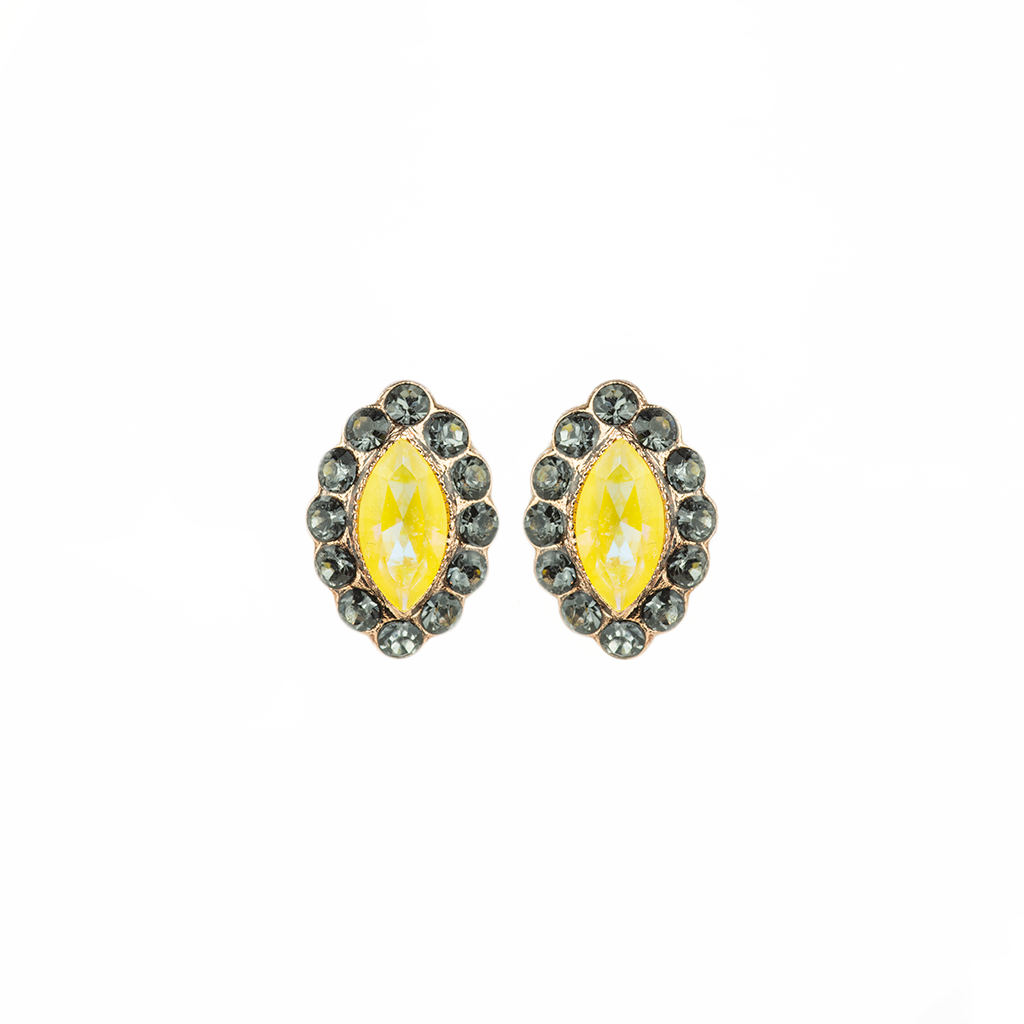 "Diamond Cluster Post Earrings in ""Painted Lady"" *Preorder*"