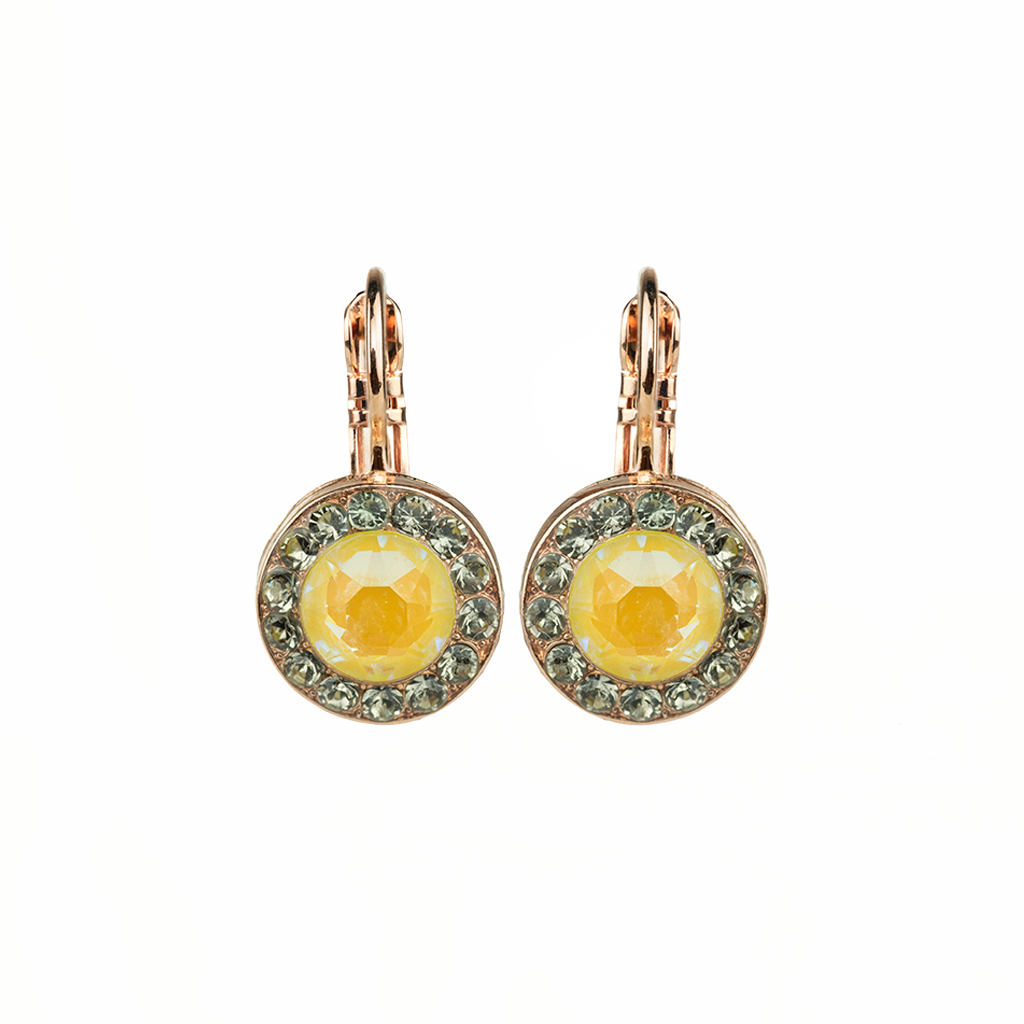 "Lovable Pave Leverback Earrings in ""Painted Lady"" *Preorder*"