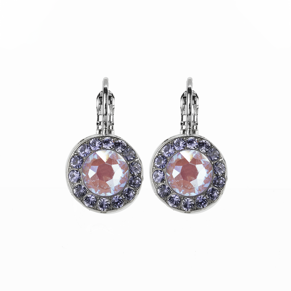 "Lovable Pave Leverback Earrings in ""Travelara"" *Preorder*"