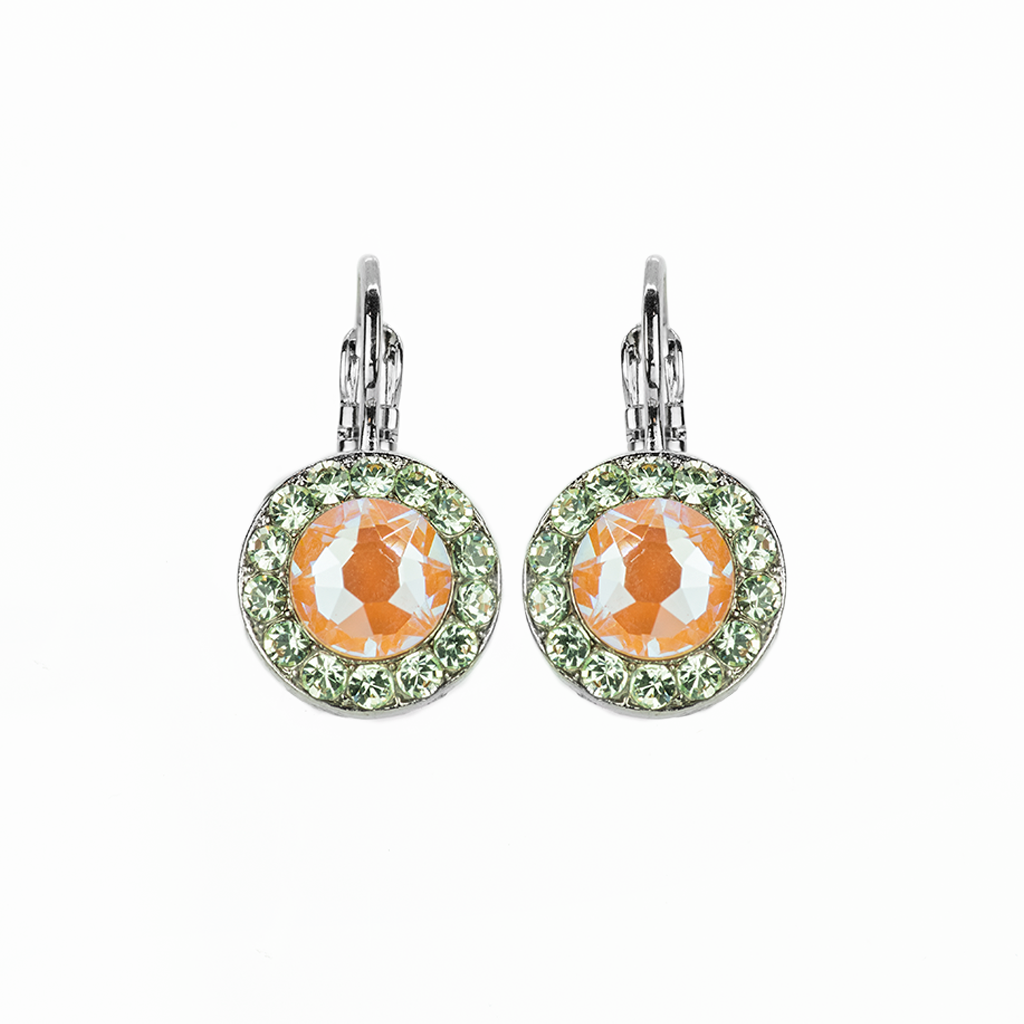 "*Preorder* Lovable Pave Leverback Earrings in ""Monarch"""