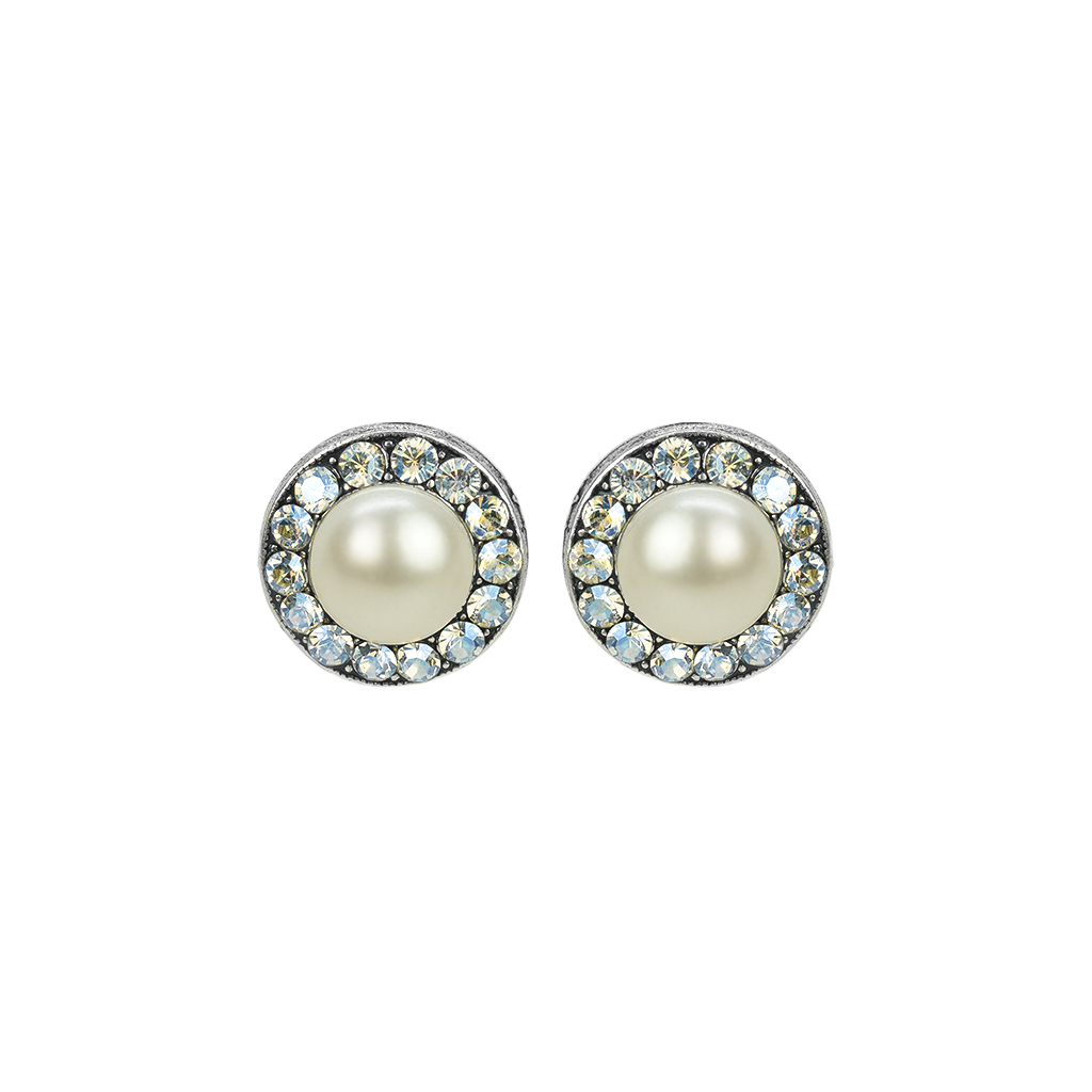 "Lovable Pave Bridal Post Earrings in ""Ivory"" *Preorder*"