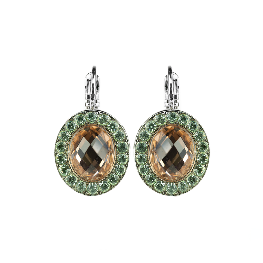 "*Preorder* Oval Cluster Leverback Earrings in ""Monarch"""
