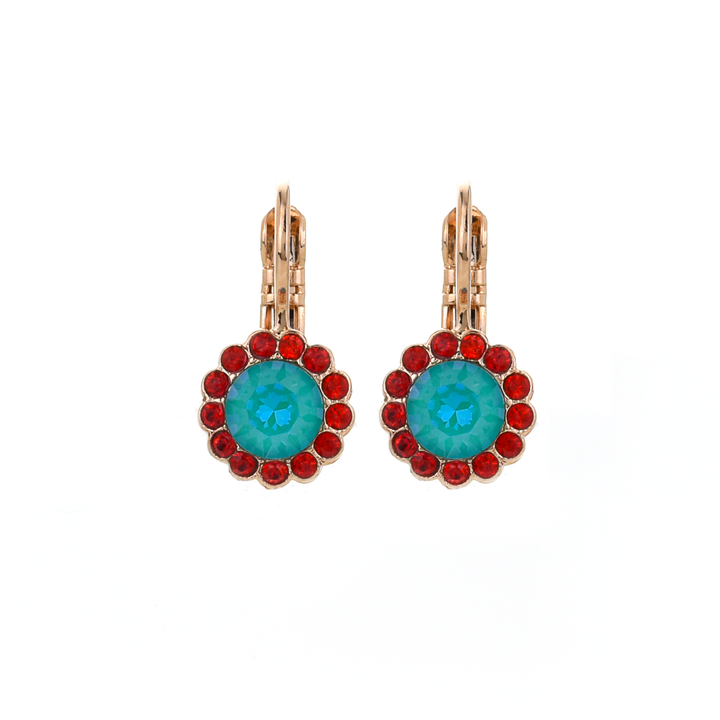 "Must-Have Rosette Leverback Earrings in ""Happiness"" *Preorder*"